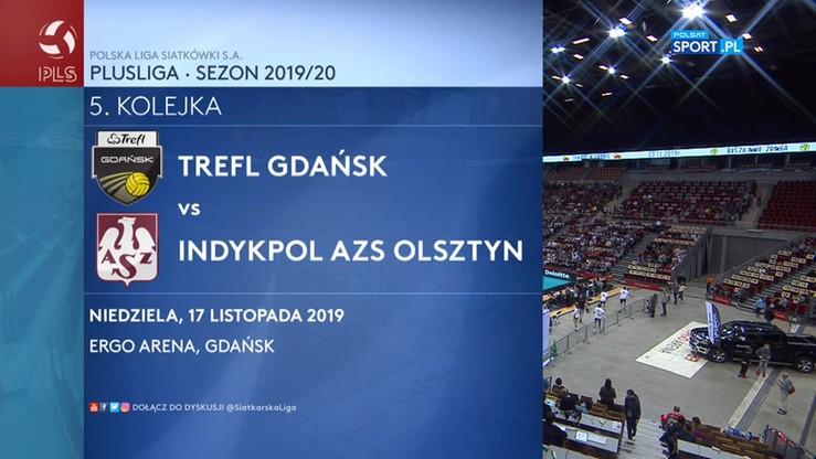 Trefl Gdańsk - Indykpol AZS Olsztyn 1:3. Skrót meczu