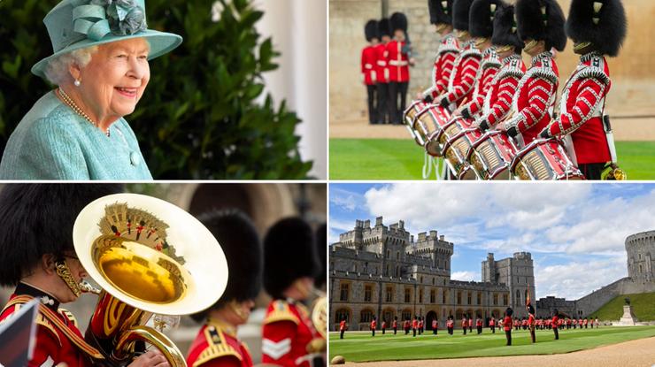 Urodziny Elżbiety II. Miniparada wojskowa na zamku w Windsorze