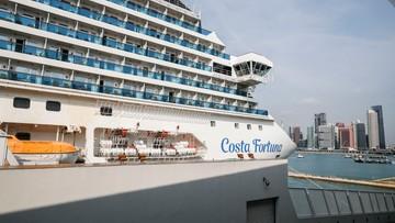Pasażerowie Costa Fortuna schodzą na ląd. Na pokładzie jest ponad stu Polaków