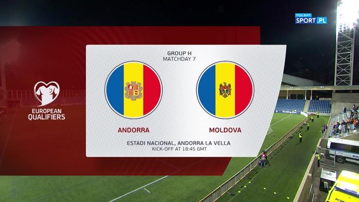 Andora - Mołdawia 1:0. Skrót meczu