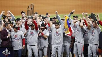 2019-10-31 MLB: Baseballiści Washington Nationals po raz pierwszy mistrzami