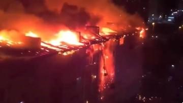 Nocny pożar w Rosji. Spłonęło niemal 90 mieszkań