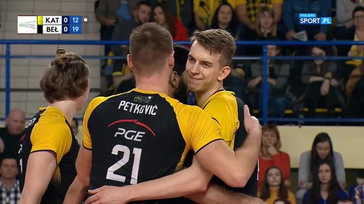 GKS Katowice - PGE Skra Bełchatów 0:3. Skrót meczu