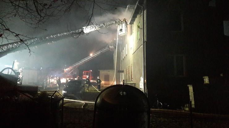 Pożar w Nadziejowie koło Nysy. Nie żyją dwie osoby