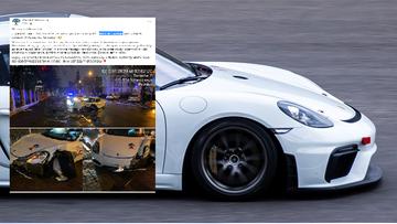 """Sportowe Porsche jako """"auto na minuty"""". Rozbite po kilkunastu godzinach"""