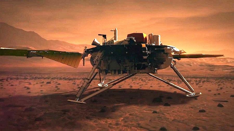 19.10.2019 05:00 Marsjańska sonda Insight wypatrzona przez Mars Reconnaissance Orbiter
