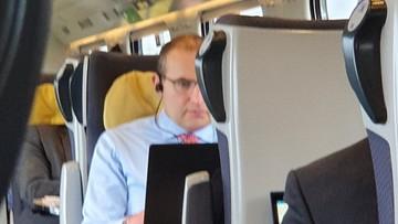 Prezydent Islandii pojechał do Gdańska... Pendolino. Zauważył go senator KO
