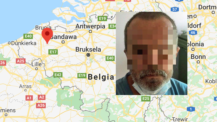 Nie wiedział, kim jest, mówił tylko po polsku. Ustalono tożsamość mężczyzny znalezionego w Belgii