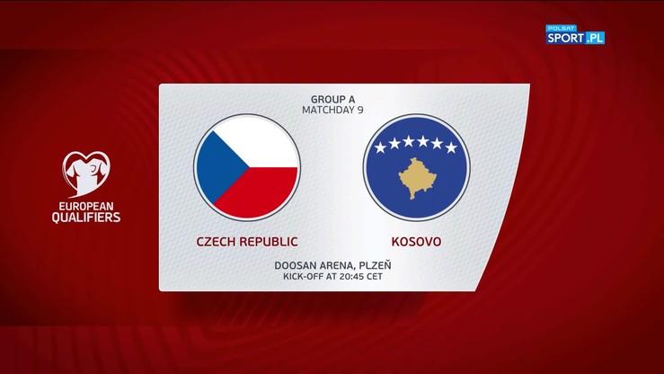Czechy - Kosowo 2:1. Skrót meczu