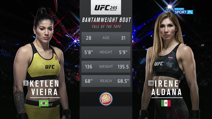 UFC 245: Ciężki nokaut! Aldana zaskoczyła faworytkę