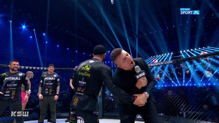 KSW 51: Żart, ale bolało. Mańkowski zaatakował Borka po walce