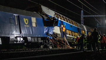 Katastrofa kolejowa w pobliżu Czeskiego Brodu. Zginął maszynista