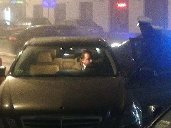 Artur Zawisza zatrzymany przez patrol policji