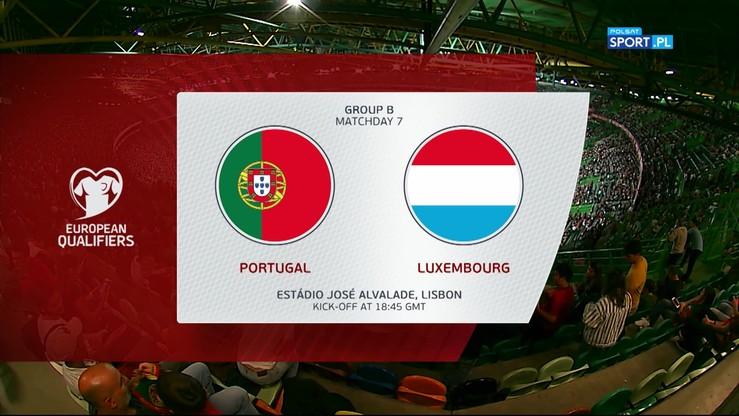 Portugalia - Luksemburg 3:0. Skrót meczu