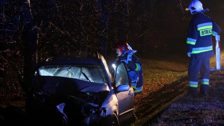 Wypadek w Polkowicach. Rannych siedem osób, w tym dzieci