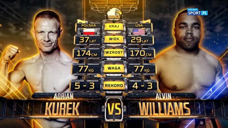 2019-10-05 Adrian Kurek - Alvin Williams. Skrót walki