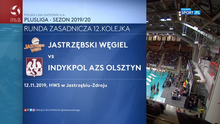 Jastrzębski Węgiel - Indykpol AZS Olsztyn 0:3. Skrót meczu