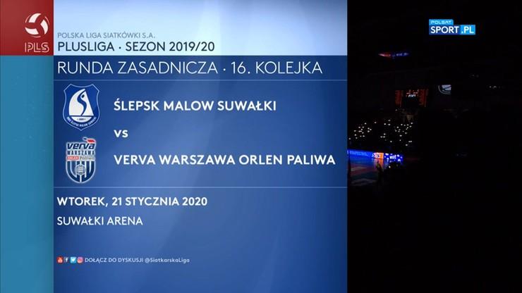 MKS Ślepsk Malow Suwałki – Verva Warszawa Orlen Paliwa 0:3. Skrót meczu