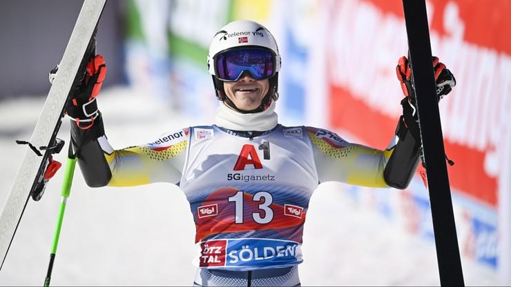 Alpejski PŚ: Lucas Braathen wygrał slalom gigant w Soelden