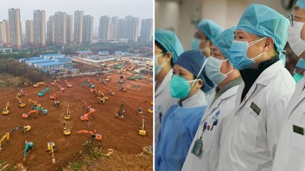 Chińska telewizja prowadzi relację na żywo z placu budowy szpitala w Wuhan