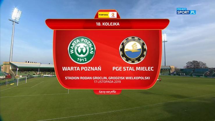 Warta Poznań - PGE FKS Stal Mielec 0:2. Skrót meczu