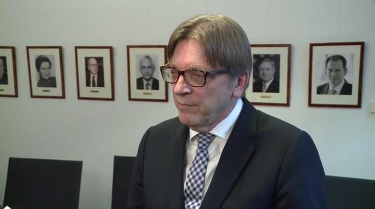 Polski sąd wystąpił do PE o uchylenie immunitetu Verhofstadtowi