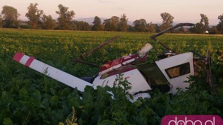 Strzegom: katastrofa prywatnego helikoptera. Zginęło dwóch mężczyzn