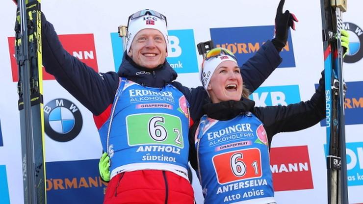 MŚ w biathlonie: Supermikst z Norwegii najlepszy, polski tylko tłem