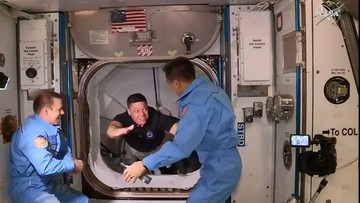 Wyjątkowe przywitanie. Astronauci dotarli na stację kosmiczną