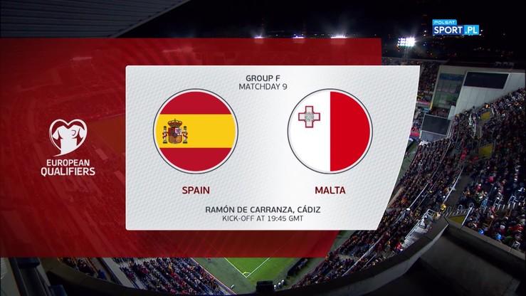 Hiszpania - Malta 7:0. Skrót meczu