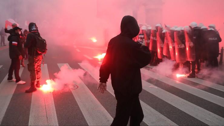 Jest decyzja o areszcie dla uczestnika Marszu Niepodległości