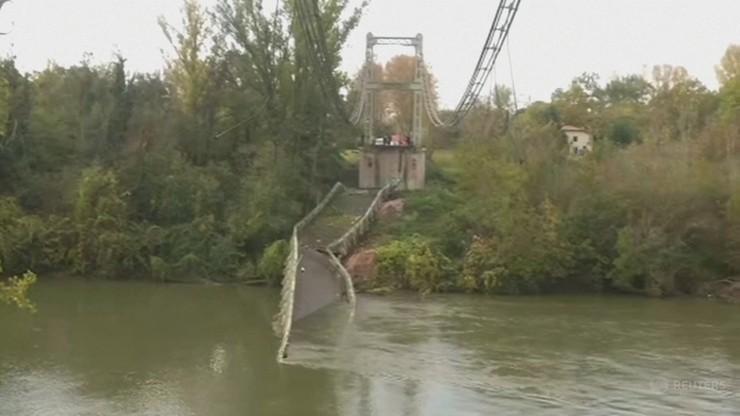 Francja: zawalił się most, auta wpadły do rzeki. Nie żyje 15-latka, ofiar może być więcej