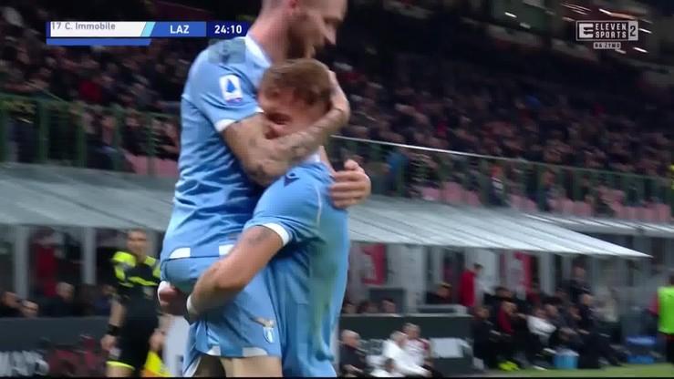 AC Milan - Lazio Rzym 1:2. Skrót meczu [ELEVEN SPORTS]