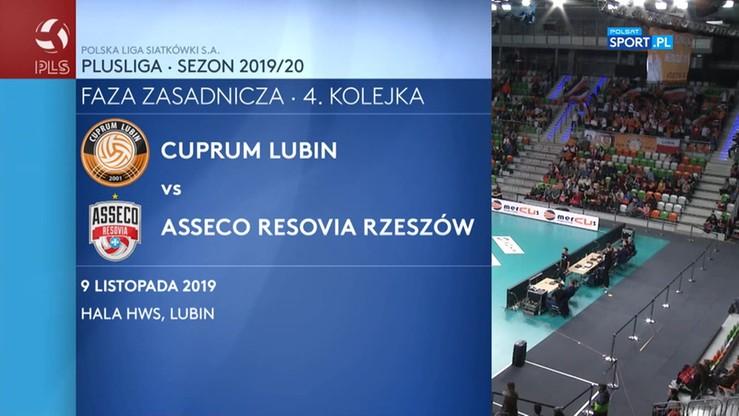 Cuprum Lubin - Asseco Resovia 1:3. Skrót meczu