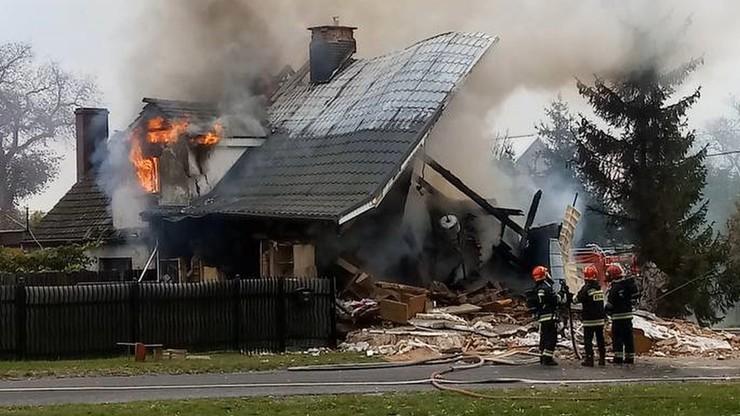 Kostrzyn nad Odrą: eksplozja gazu. Dom stanął w płomieniach