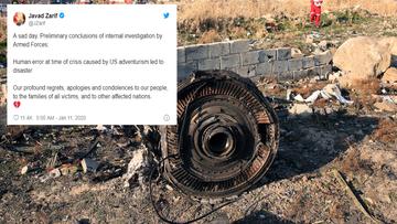 """Błąd ludzki spowodowany """"awanturnictwem amerykańskim"""". Mocne słowa szefa MSZ Iranu"""