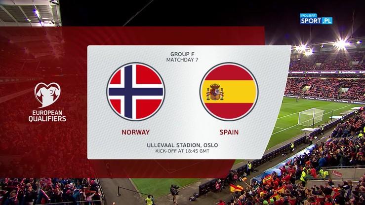 Norwegia - Hiszpania 1:1. Skrót meczu
