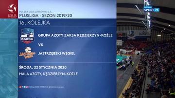 Grupa Azoty ZAKSA Kędzierzyn-Koźle – Jastrzębski Węgiel 2:3. Skrót meczu