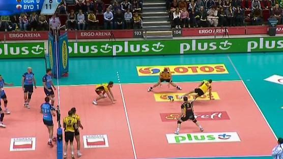 Lotos Trefl Gdańsk - Delecta Bydgoszcz skrót set 2, PlusLiga