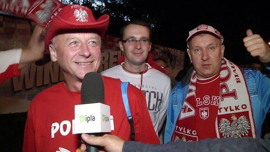 Kibice po meczu z Serbią