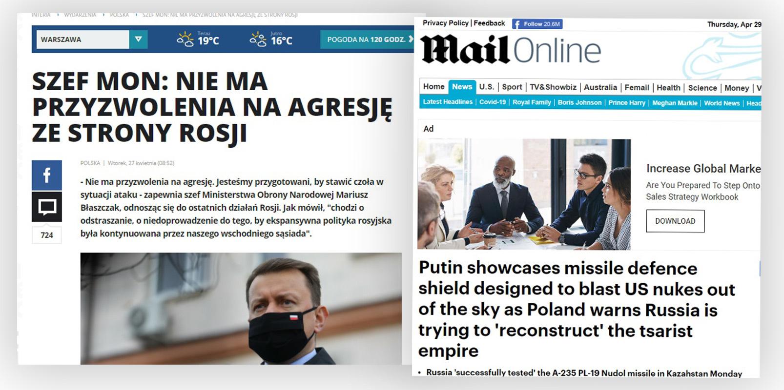 Komentarze pod tymi tekstami posłużyły do stworzenia tekstów w rosyjskich serwisach