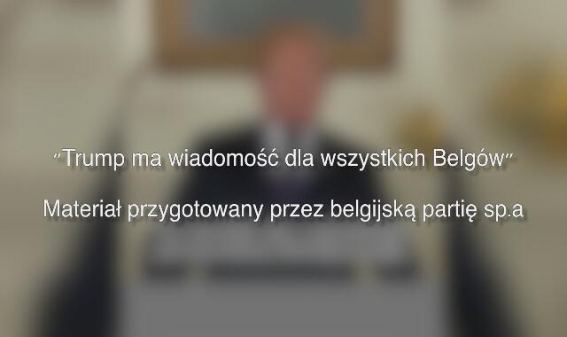 Spot typu deepfake przygotowany przez belgijską partię sp.a