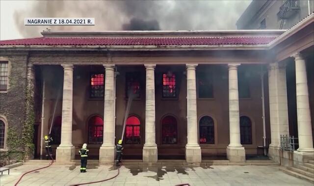 Ogień dotarł do budynków Uniwersytetu w Kapsztadzie
