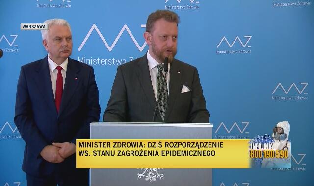 Minister Szumowski o zamykaniu szkół w Polsce i Europie