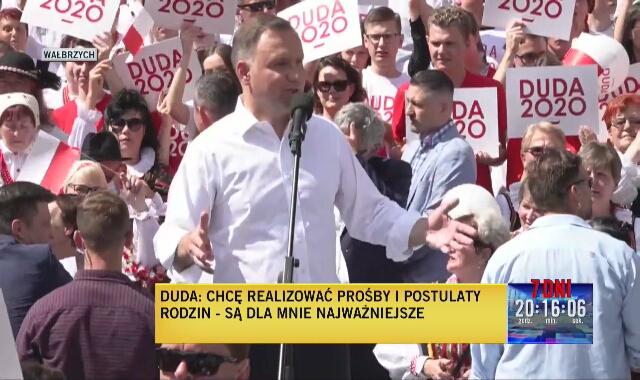 """Andrzej Duda w Wałbrzychu: """"Będę umacniał naszą pozycję w Unii Europejskiej"""""""