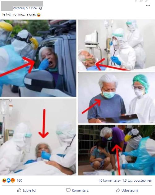 Zestaw zdjęć zamieszczony przez internautę na Facebooku