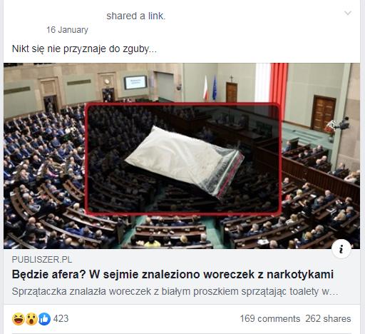 Tekst udostępniony na facebookowej grupie cieszy się dużą popularnością