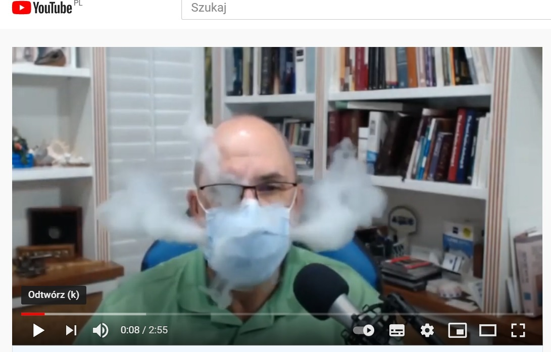 Film opublikowany na YouTube wprowadza w błąd, jeśli chodzi o skuteczność masek na rozprzestrzenianie się koronawirusa SARS-CoV-2 wi