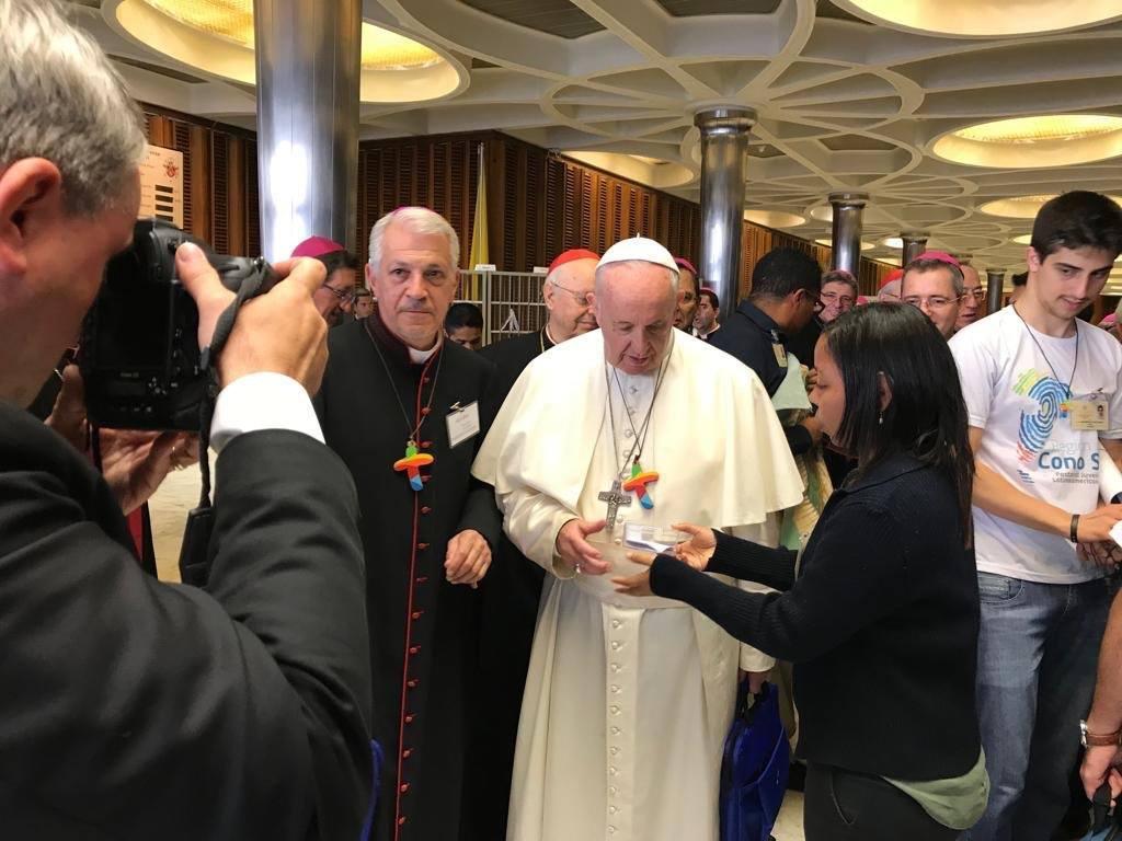 Papież Franciszek na spotkaniu z Duszpasterstwem Młodzieży Latynoamerykańskiej