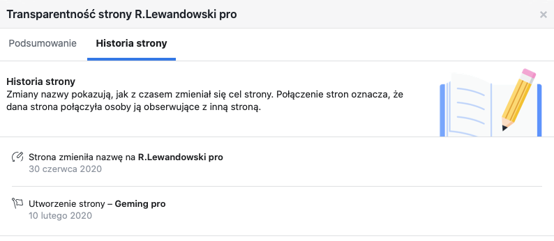 Zmiany nazw strony R.Lewandowski pro